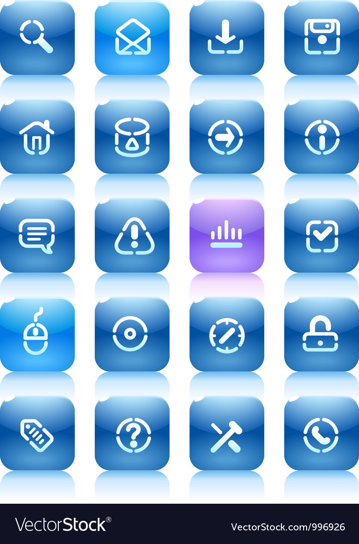 Stencil blue buttons for internet vector | Price: 1 Credit (USD $1)
