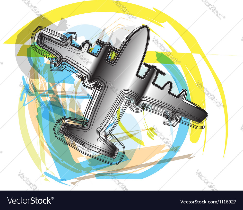 Abstract airplane vector   Price: 1 Credit (USD $1)