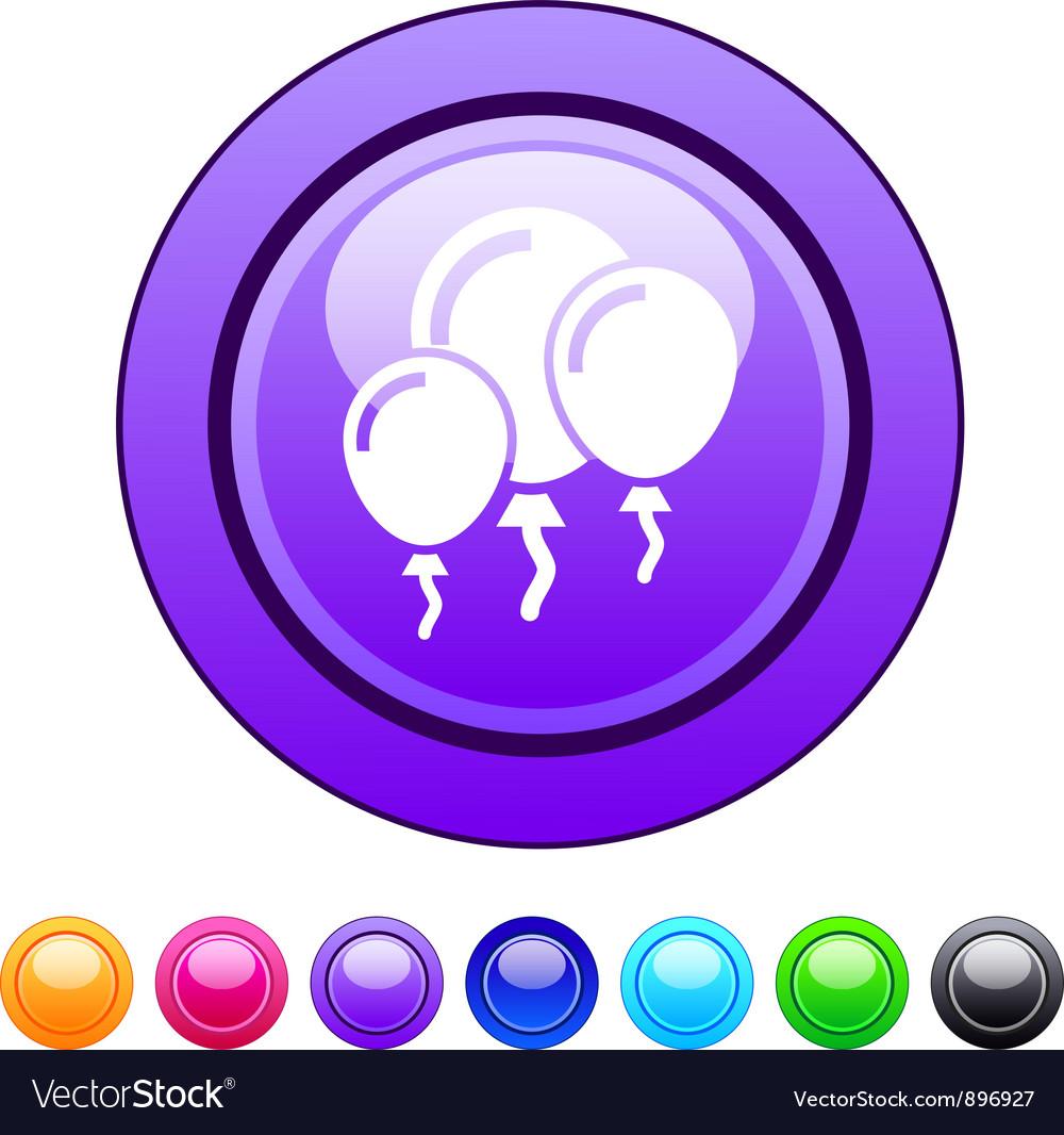 Balloons circle button vector | Price: 1 Credit (USD $1)