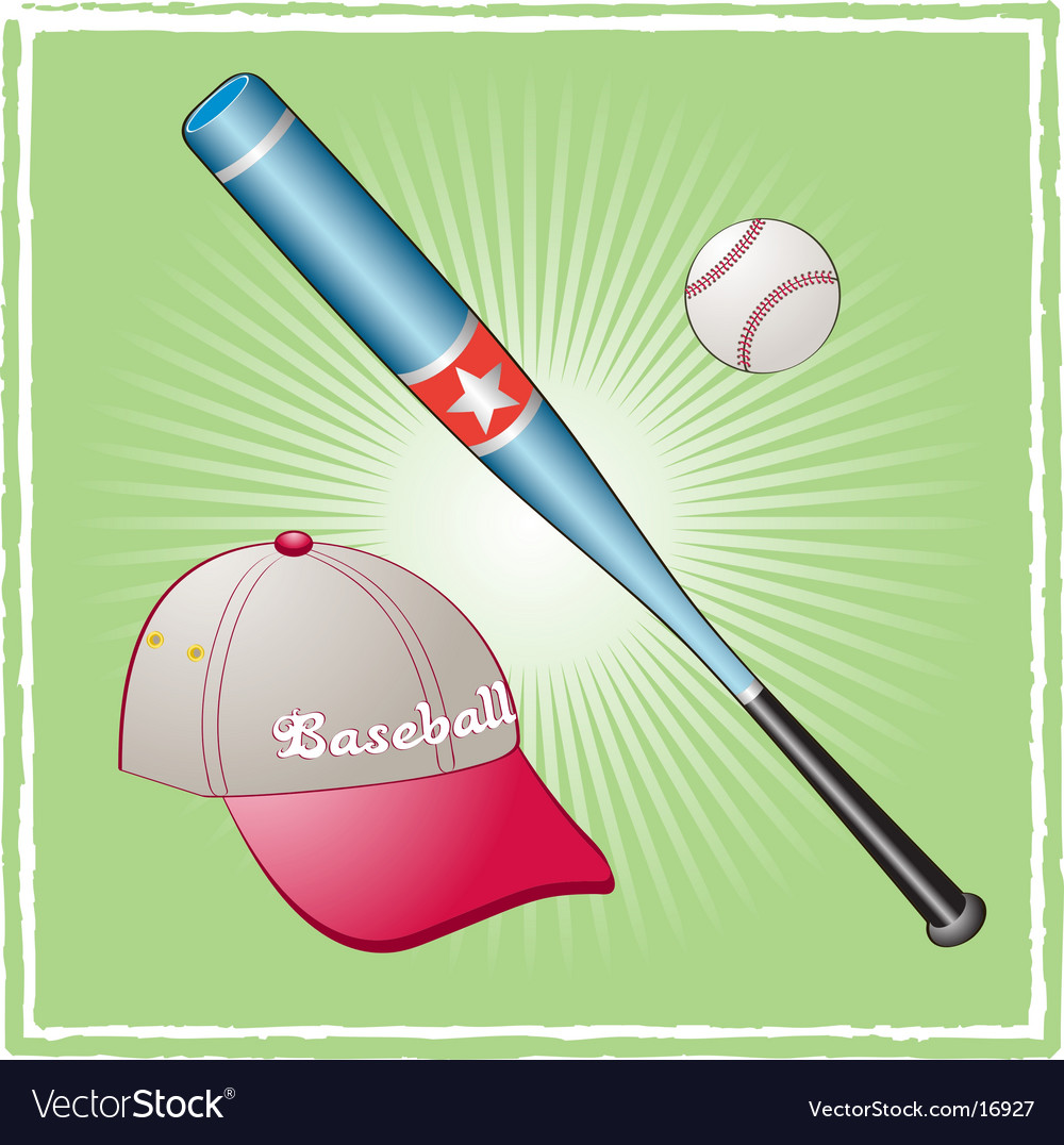 Baseball equipment vector   Price: 1 Credit (USD $1)