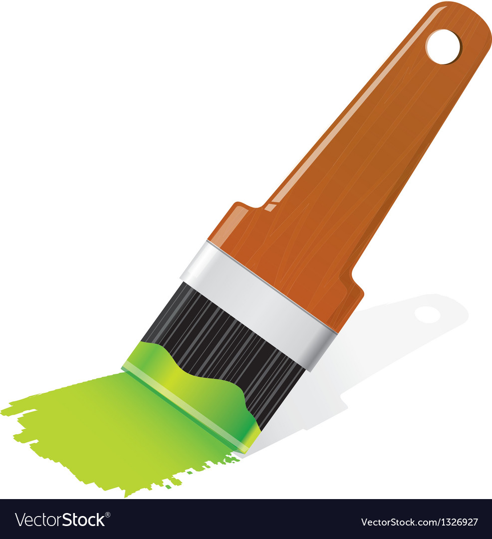 Brush with paint vector | Price: 1 Credit (USD $1)