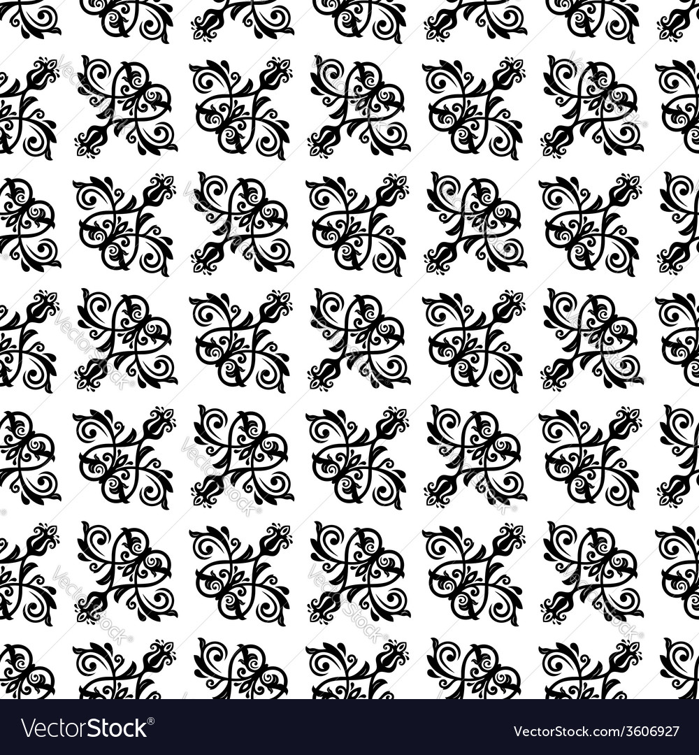 Damask seamless pattern orient background vector | Price: 1 Credit (USD $1)
