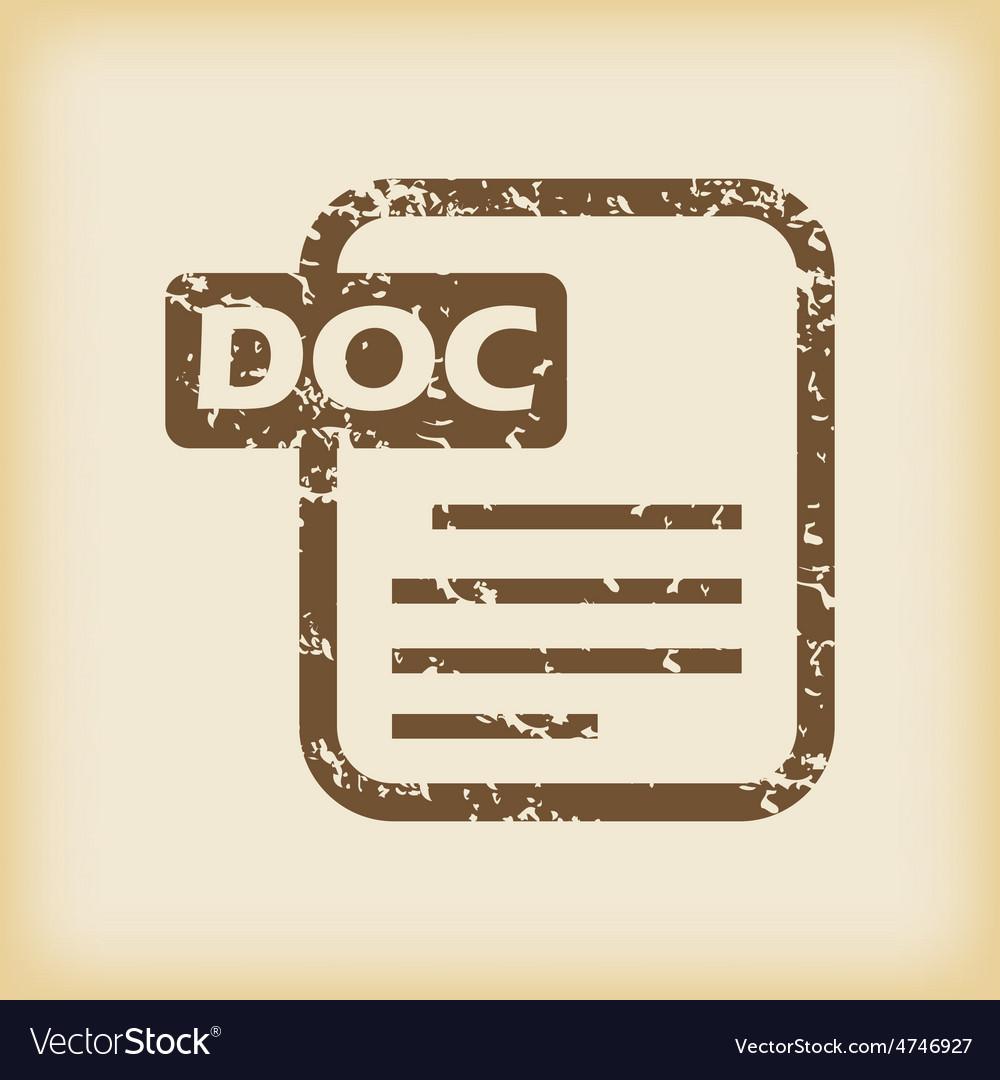 Grungy doc file icon vector   Price: 1 Credit (USD $1)