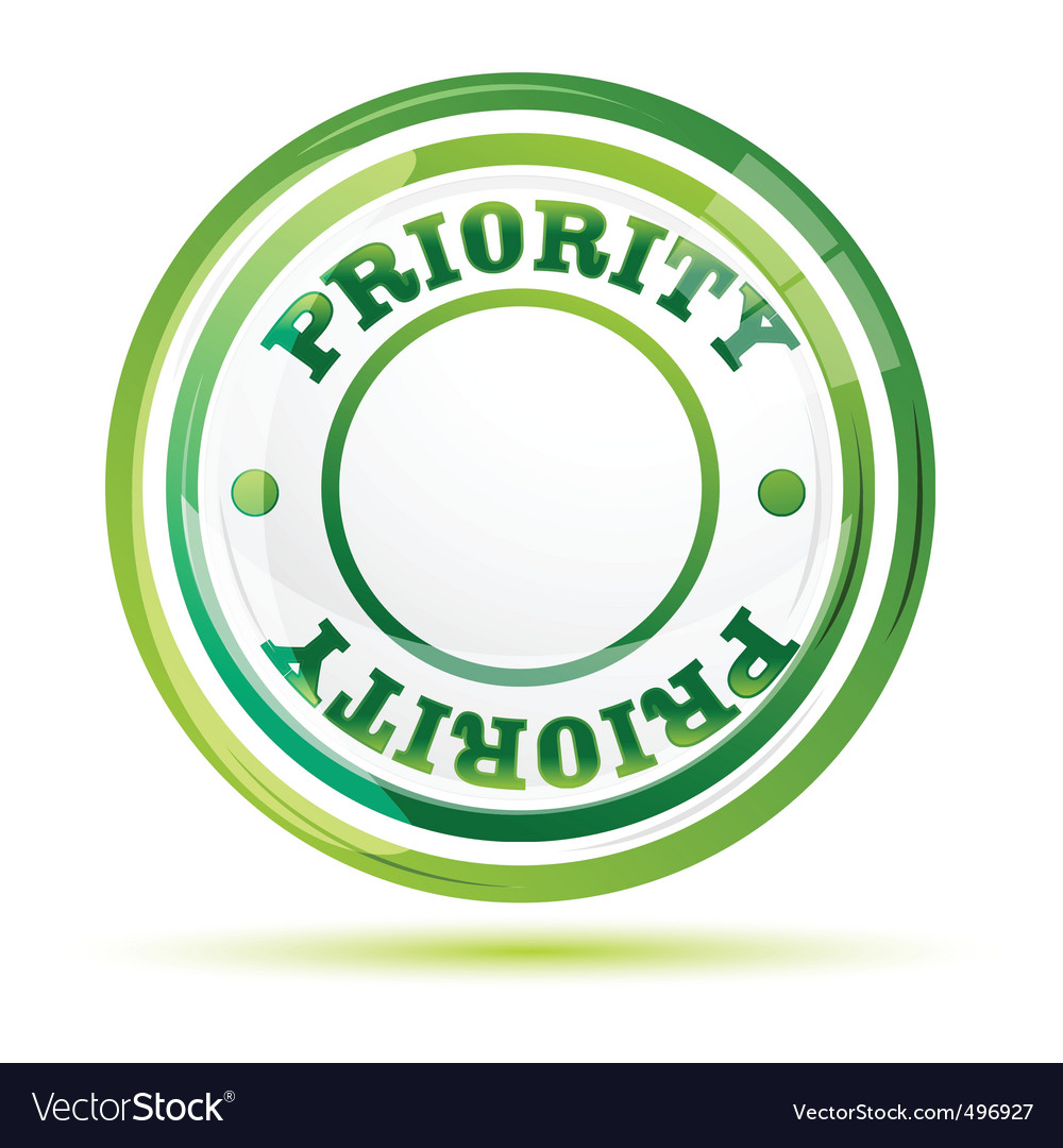 Priority stamp vector | Price: 1 Credit (USD $1)