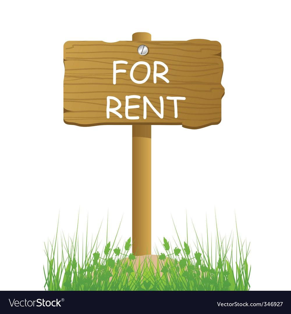Rent sign vector | Price: 1 Credit (USD $1)