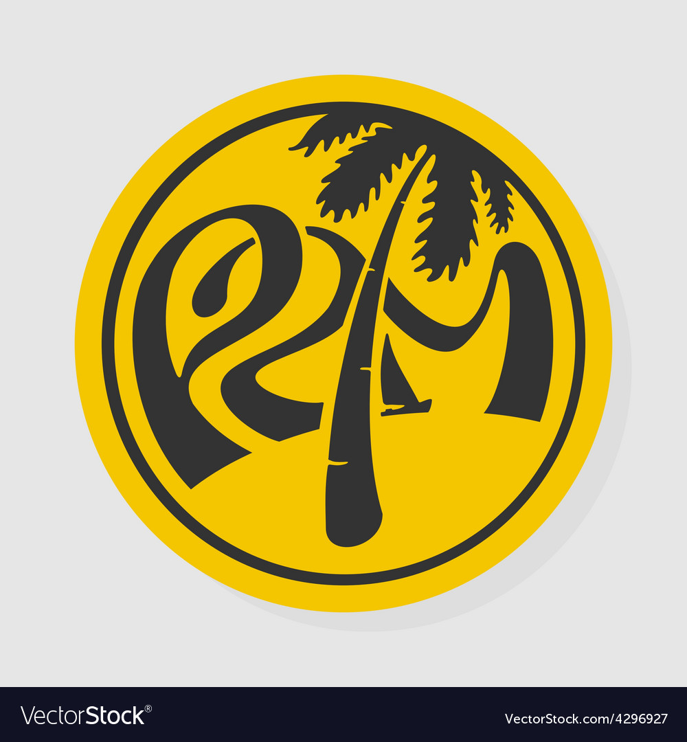 Symbol lettering palm vector | Price: 1 Credit (USD $1)