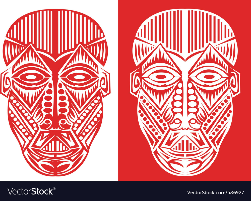 Tribal face art vector | Price: 1 Credit (USD $1)