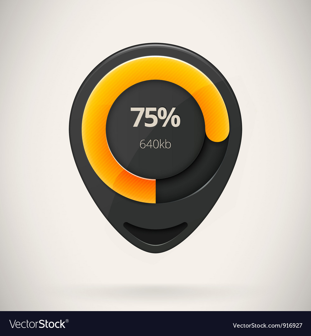 Web preloader download bar vector | Price: 1 Credit (USD $1)