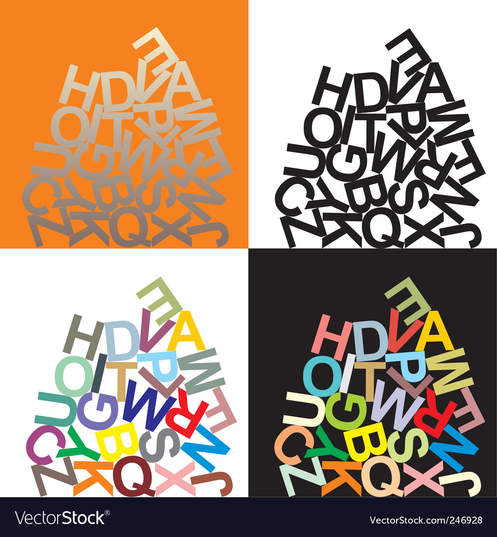 Alphabet large letters vector | Price: 1 Credit (USD $1)
