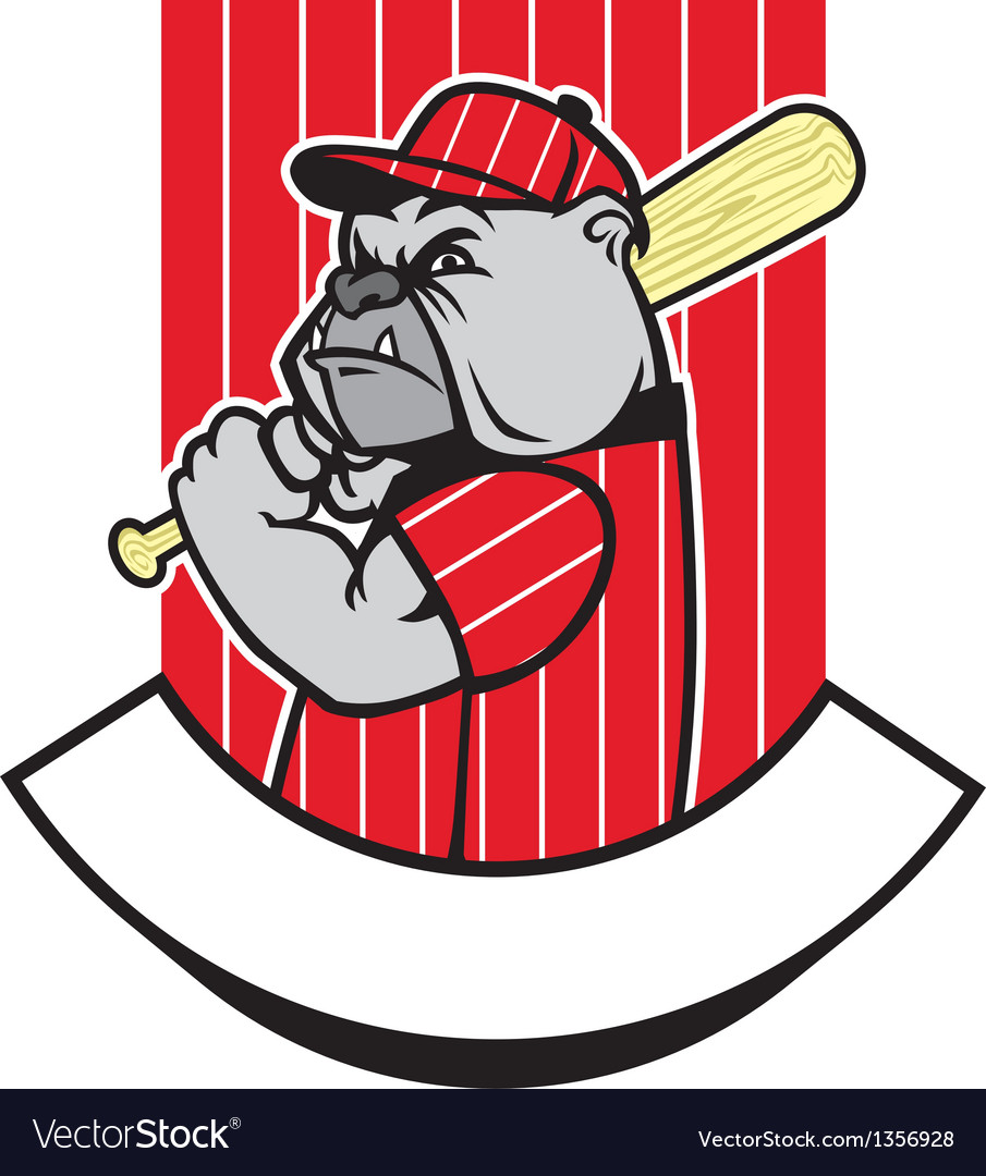 Bulldog baseball player vector | Price: 1 Credit (USD $1)