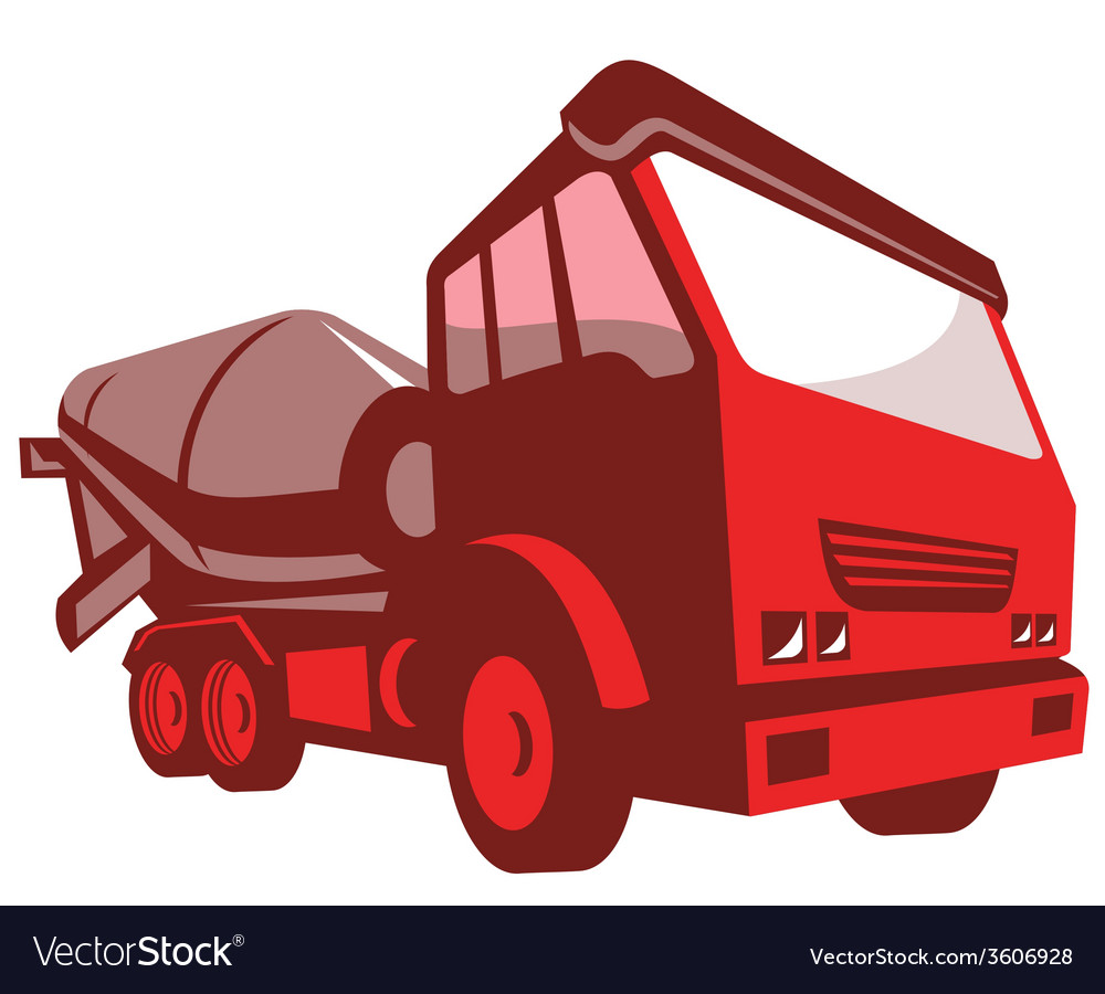 Cement truck lorry retro style vector | Price: 1 Credit (USD $1)