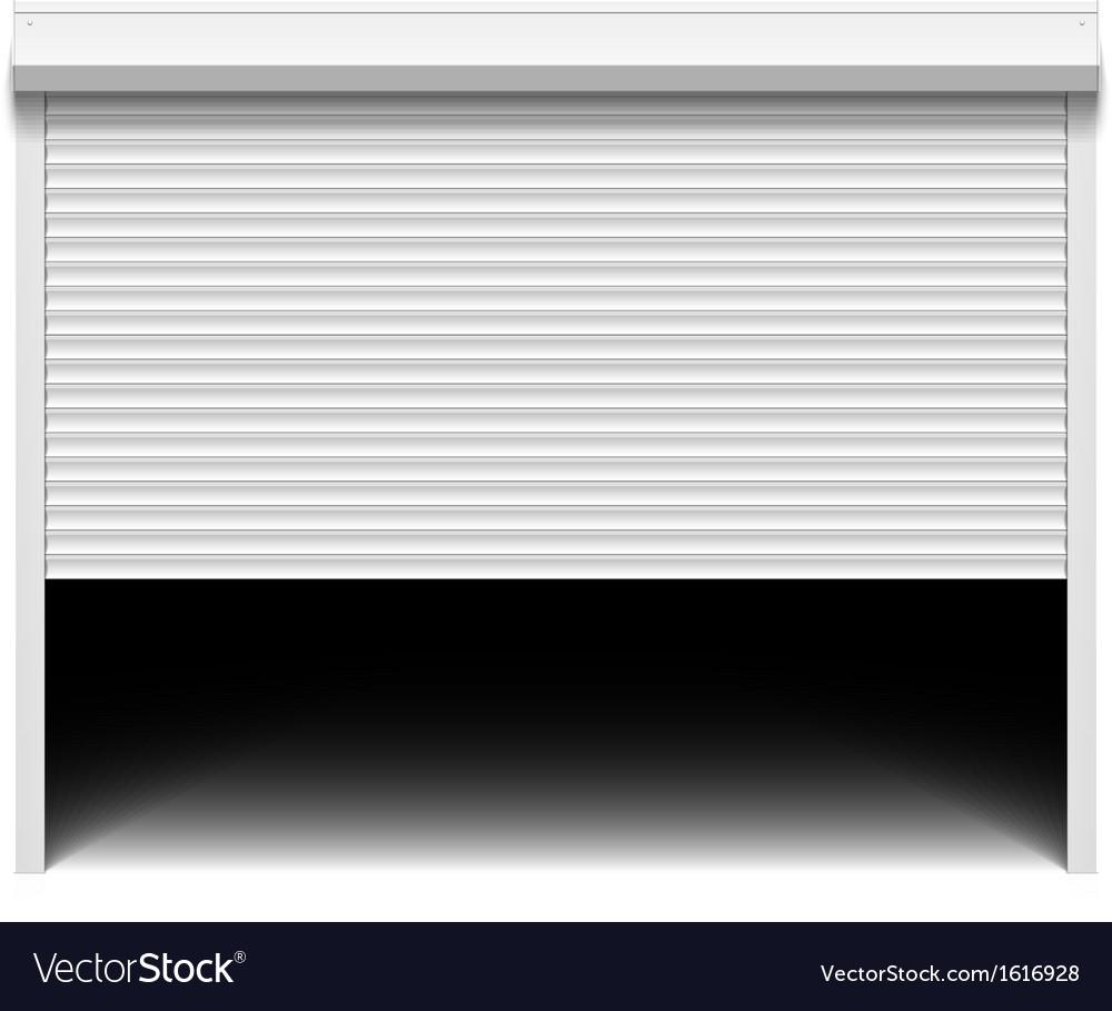Roller shutter garage door vector | Price: 1 Credit (USD $1)