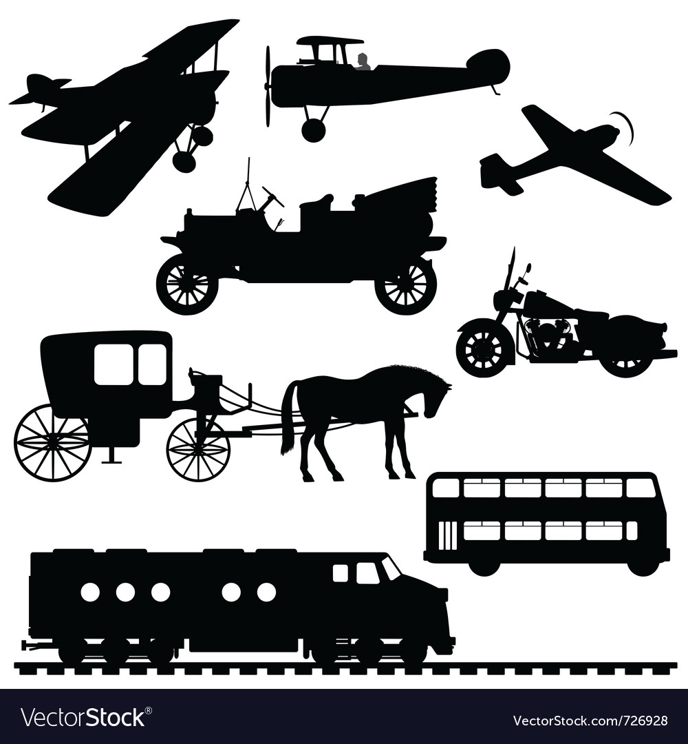 Silhouettes of vehicles vector | Price: 1 Credit (USD $1)