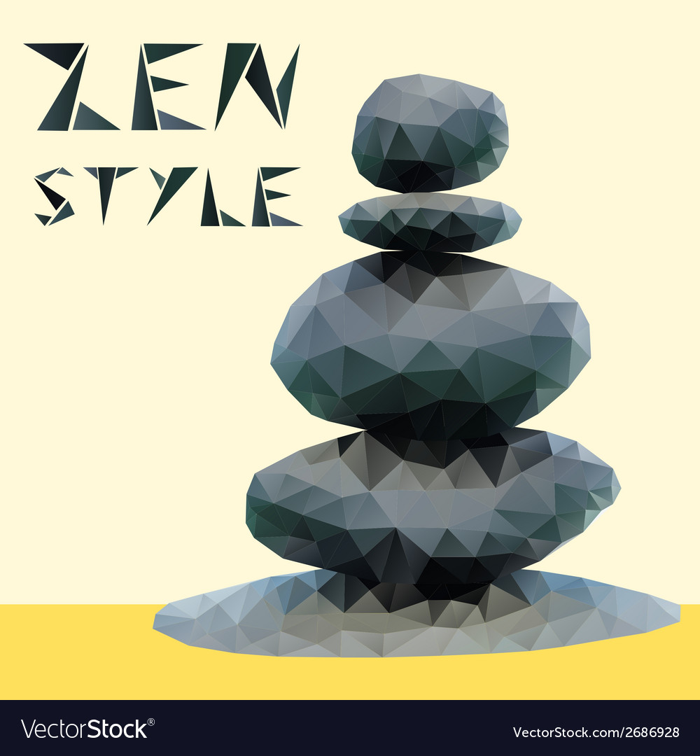 Stones in zen style vector | Price: 1 Credit (USD $1)