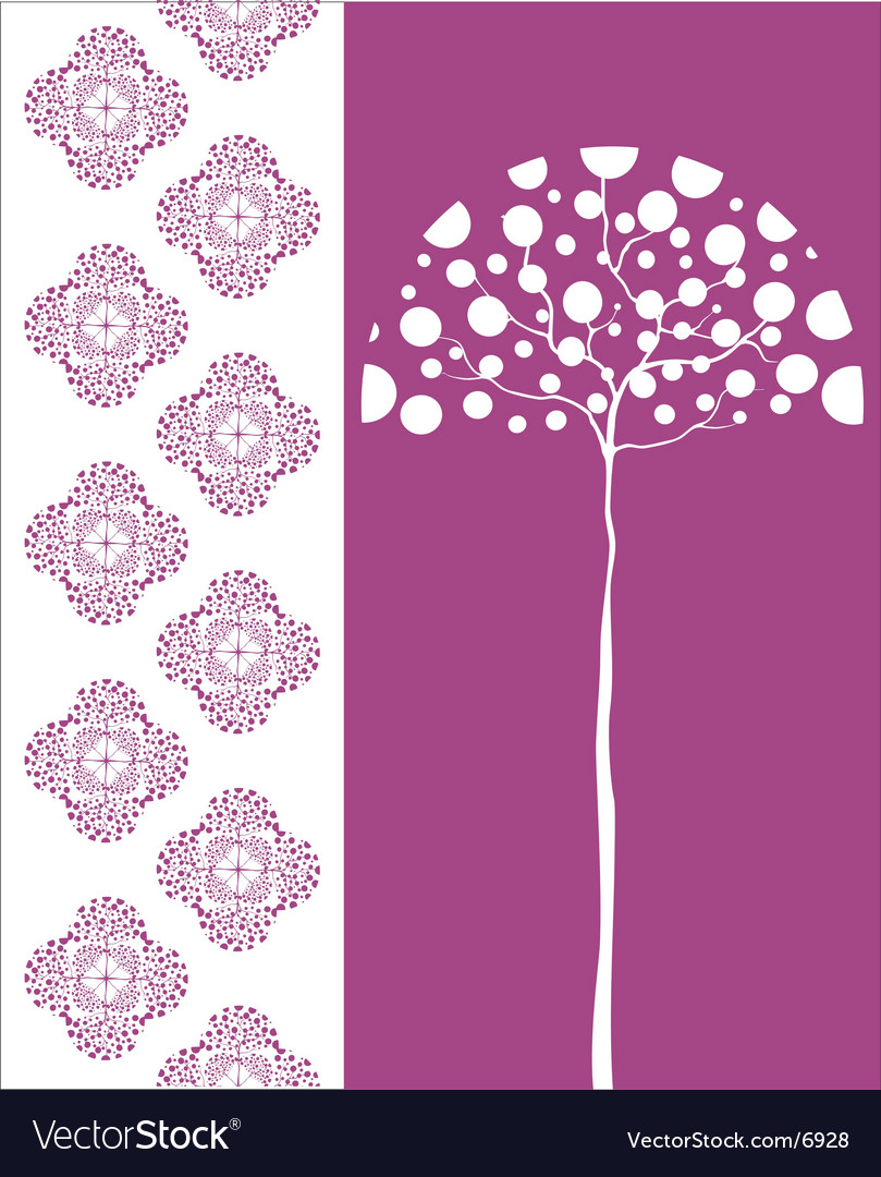 Tree and pattern vector | Price: 1 Credit (USD $1)