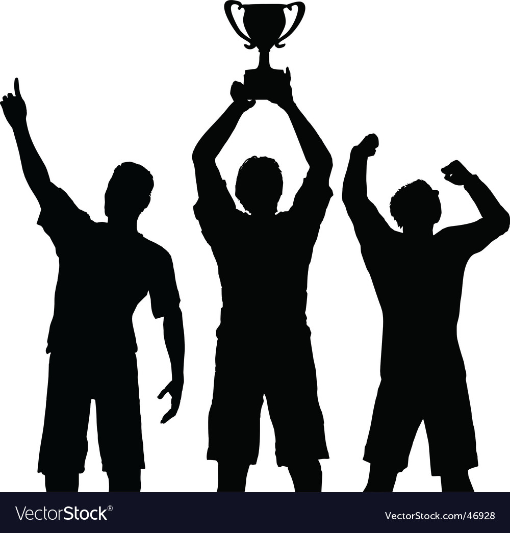 Trophy winners celebrate sports victory vector | Price: 1 Credit (USD $1)