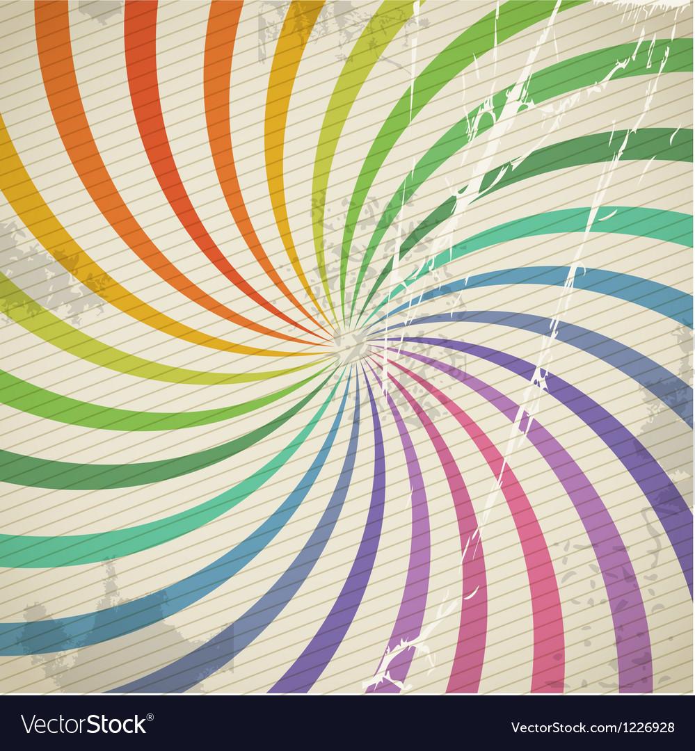 Vintage color spiral background with blots vector   Price: 1 Credit (USD $1)