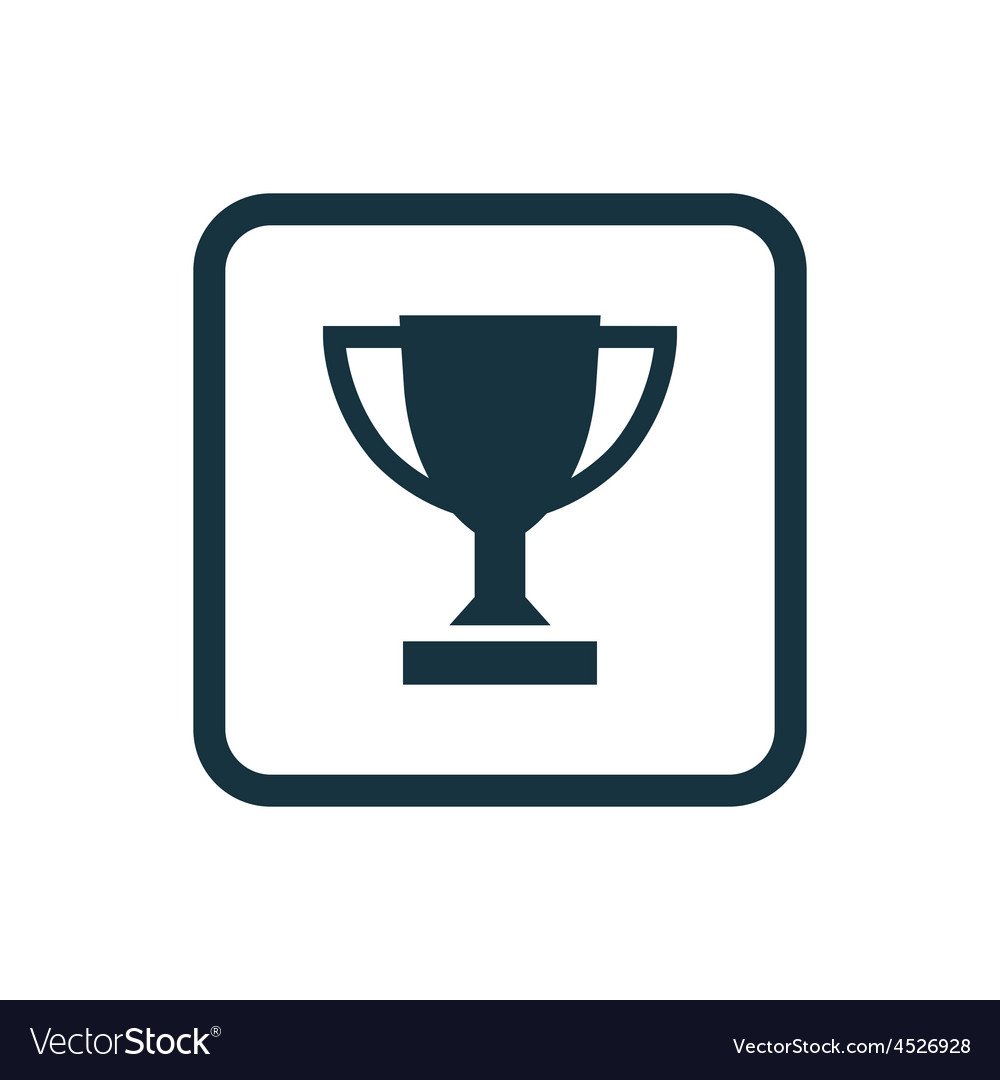Winner cup icon rounded squares button vector | Price: 1 Credit (USD $1)