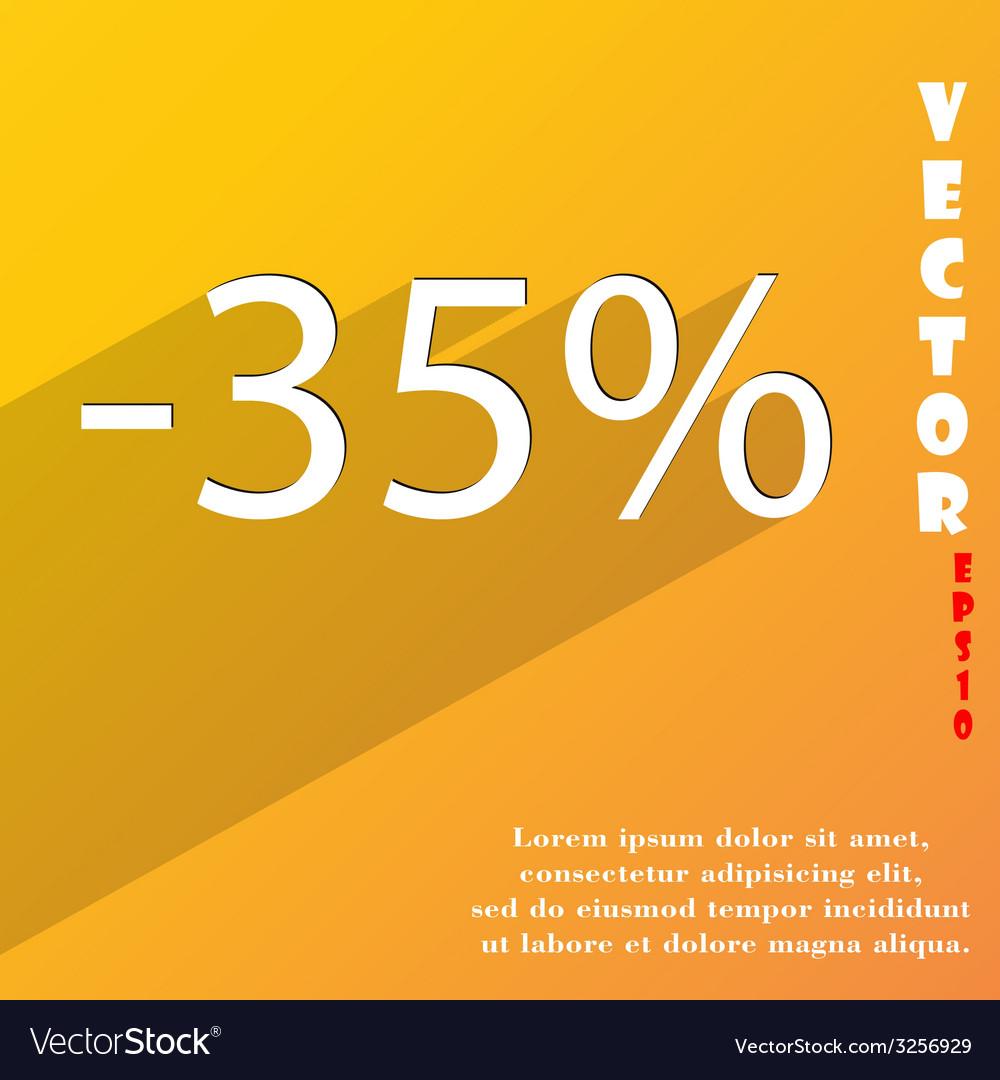 35 percent discount icon symbol flat modern web vector | Price: 1 Credit (USD $1)
