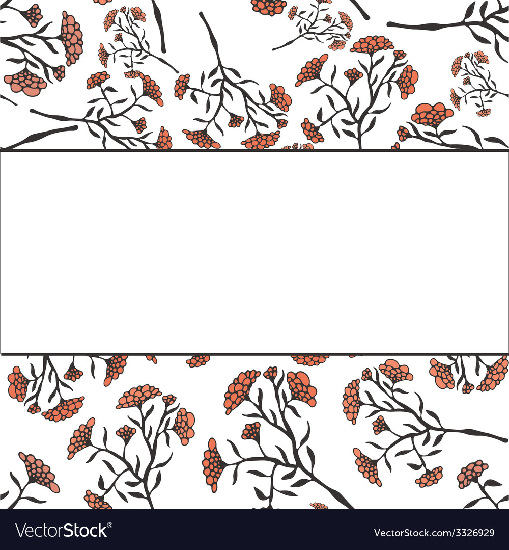 Beautiful flower drawn by hand perfect floral card vector   Price: 1 Credit (USD $1)