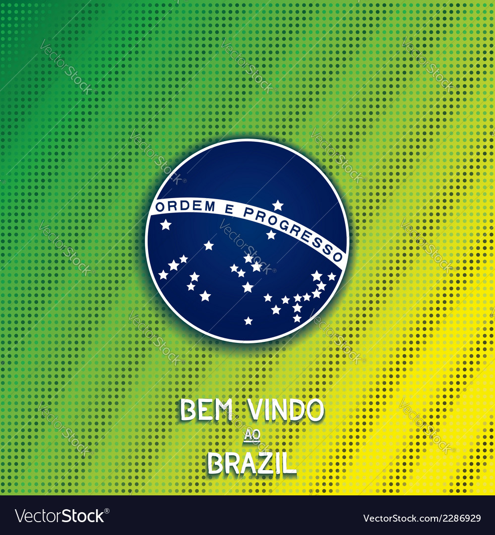 Bright background with blue disc of flag brazil vector | Price: 1 Credit (USD $1)