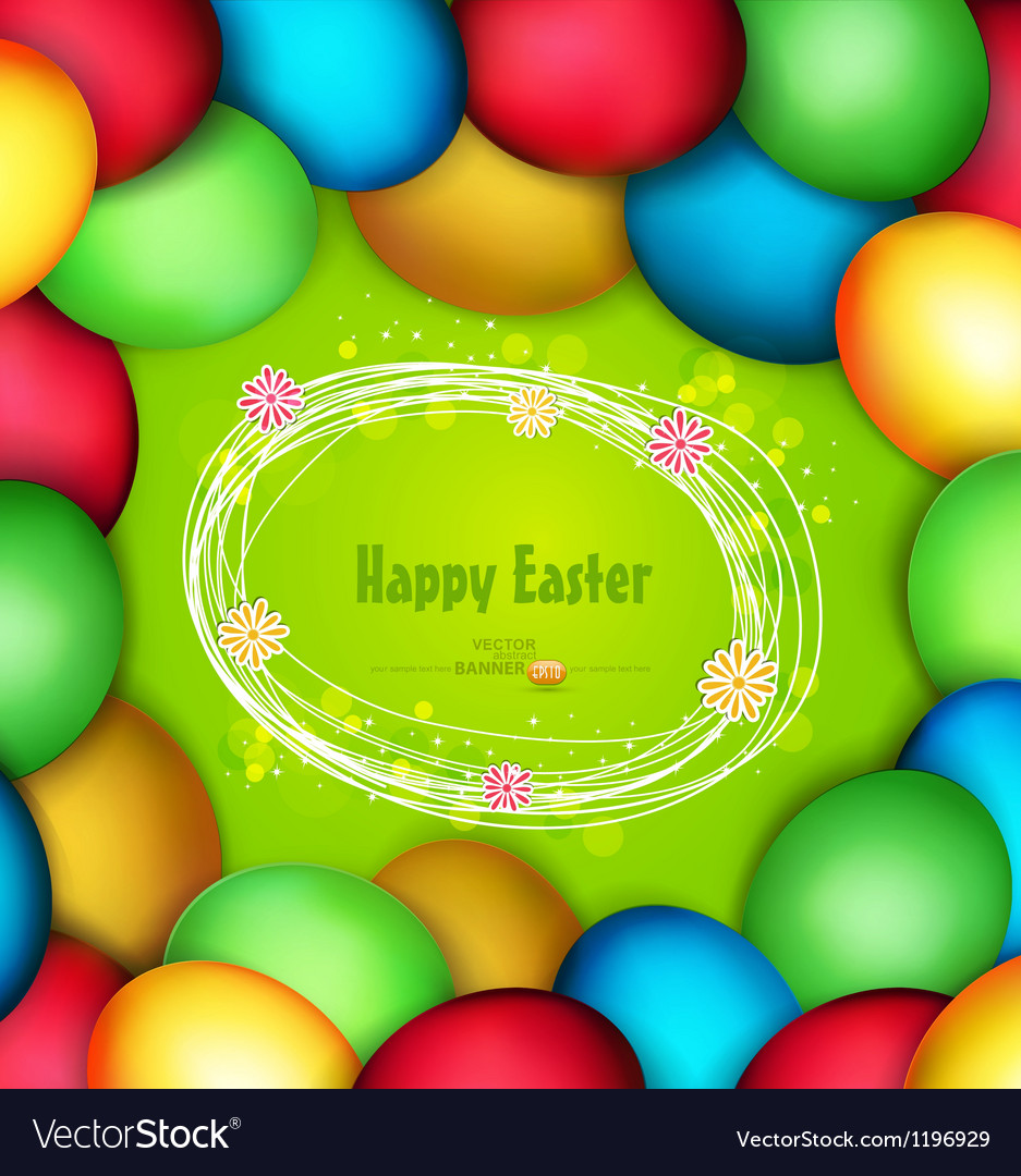 Frame of easter eggs vector | Price: 1 Credit (USD $1)