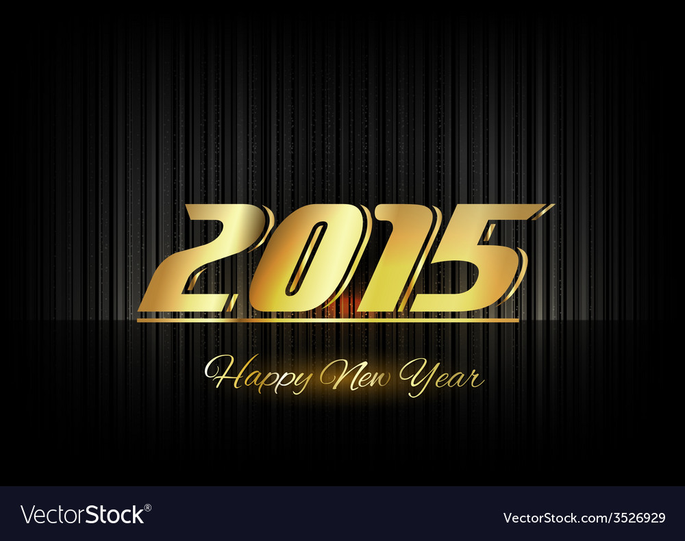 Gold new year vector | Price: 1 Credit (USD $1)