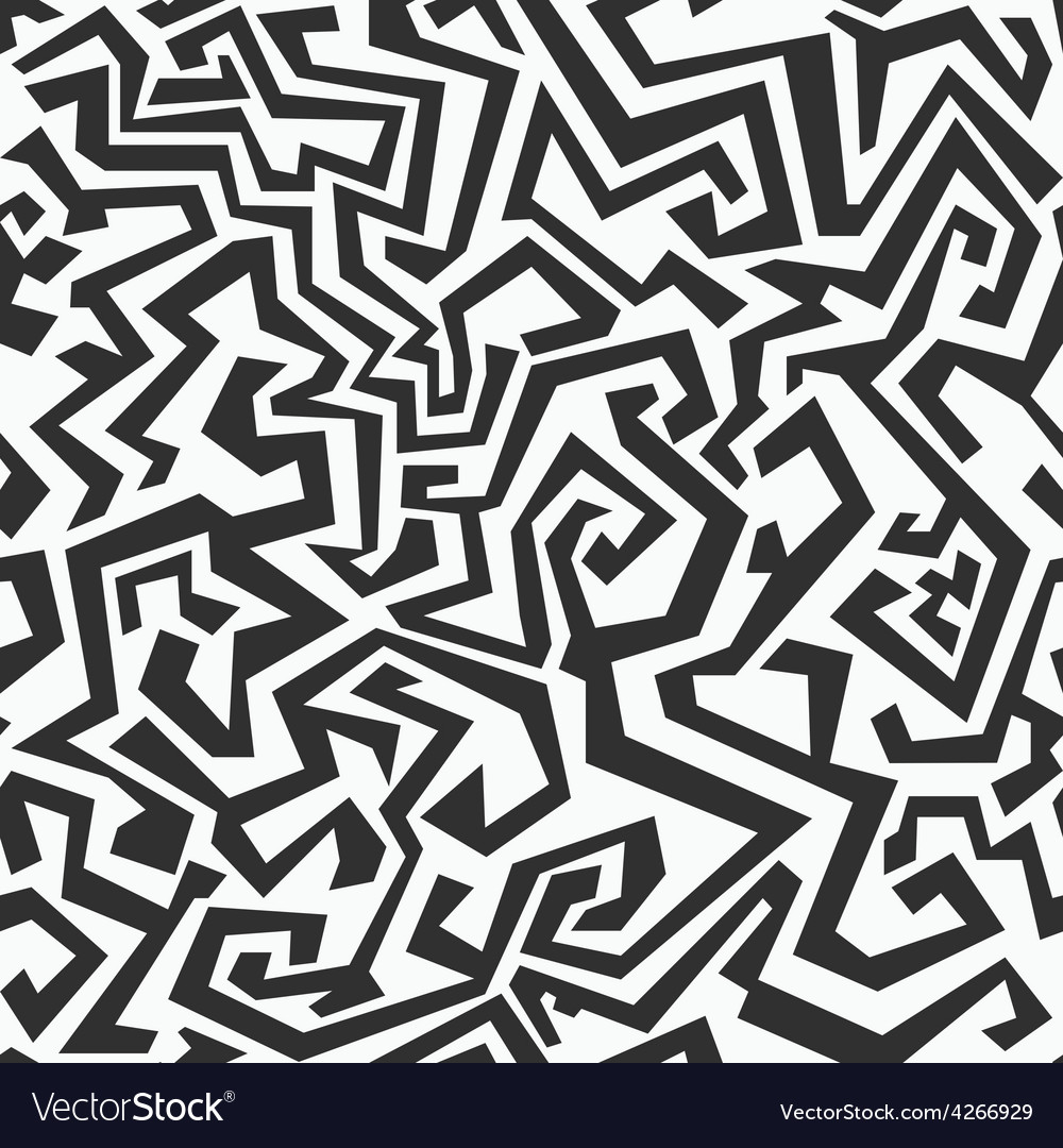 Monochrome seamless maze pattern vector | Price: 1 Credit (USD $1)