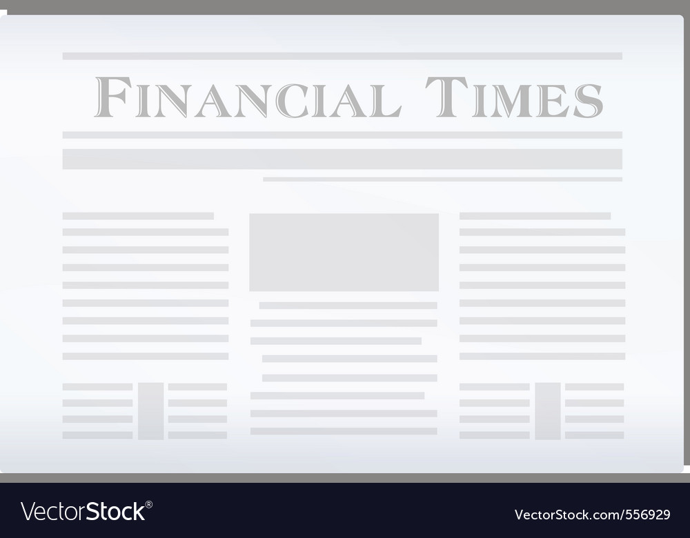 Newspaper financial vector | Price: 1 Credit (USD $1)