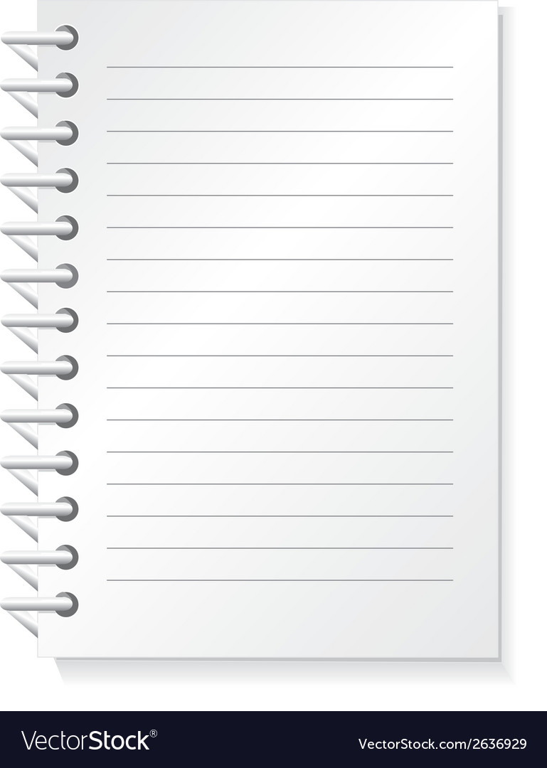 Notepad vector | Price: 1 Credit (USD $1)