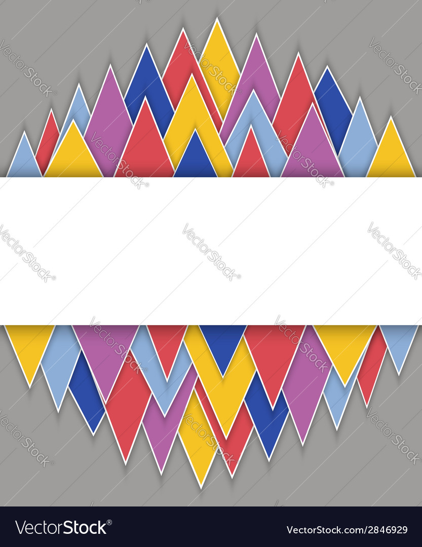Rectangle banner on abstract triangles background vector   Price: 1 Credit (USD $1)