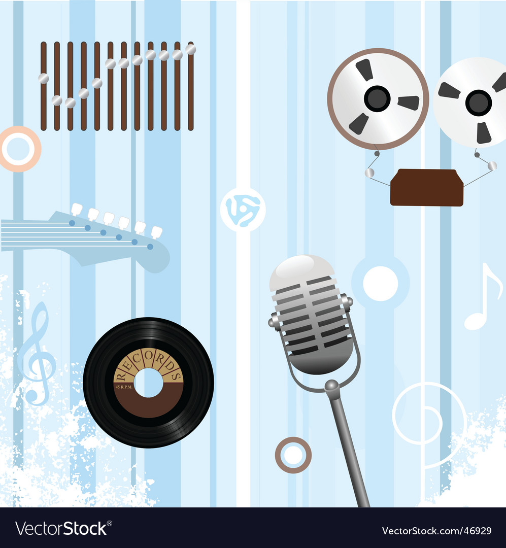 Retro music background vector | Price: 1 Credit (USD $1)
