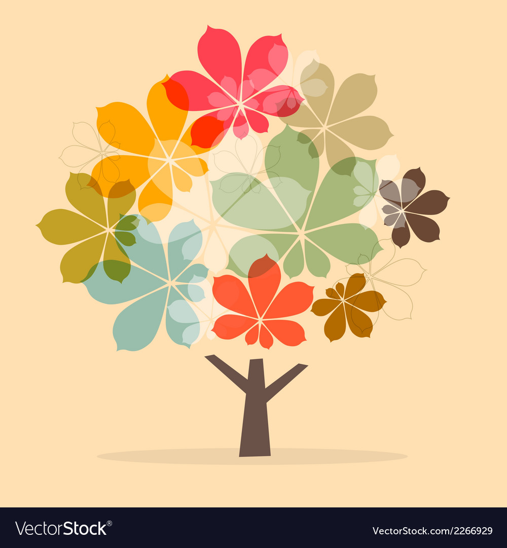 Retro paper abstract chestnut tree vector   Price: 1 Credit (USD $1)