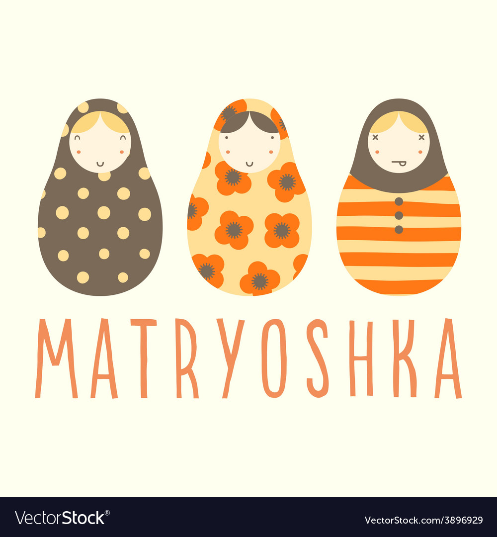 Three matryoshka dolls vector | Price: 1 Credit (USD $1)