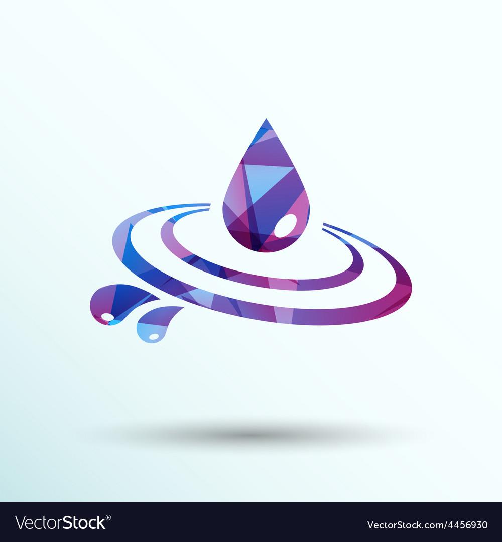 Abstract symbol of a drop water symbol vector | Price: 1 Credit (USD $1)