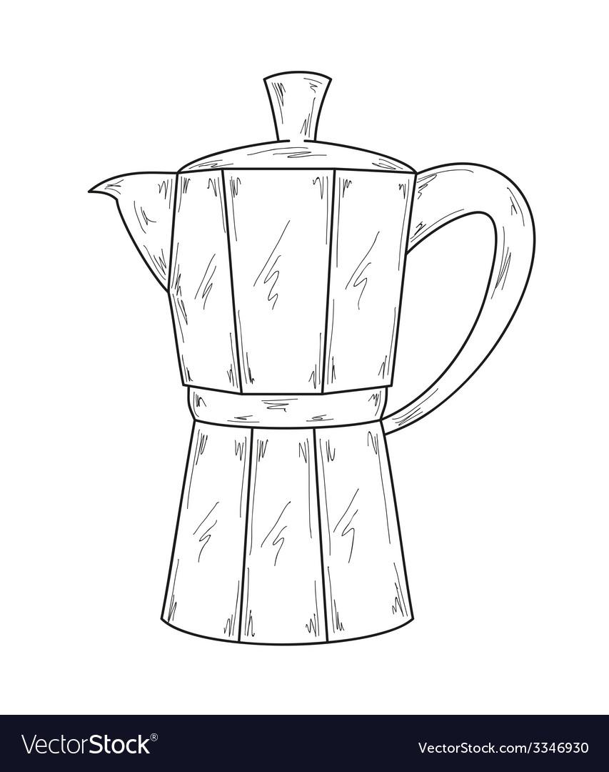 Coffee maker vector | Price: 1 Credit (USD $1)