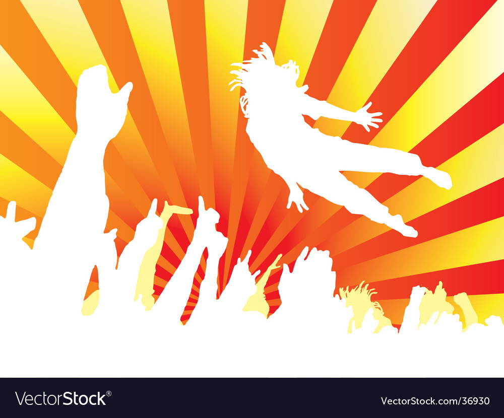 Concert jump hot vector | Price: 1 Credit (USD $1)