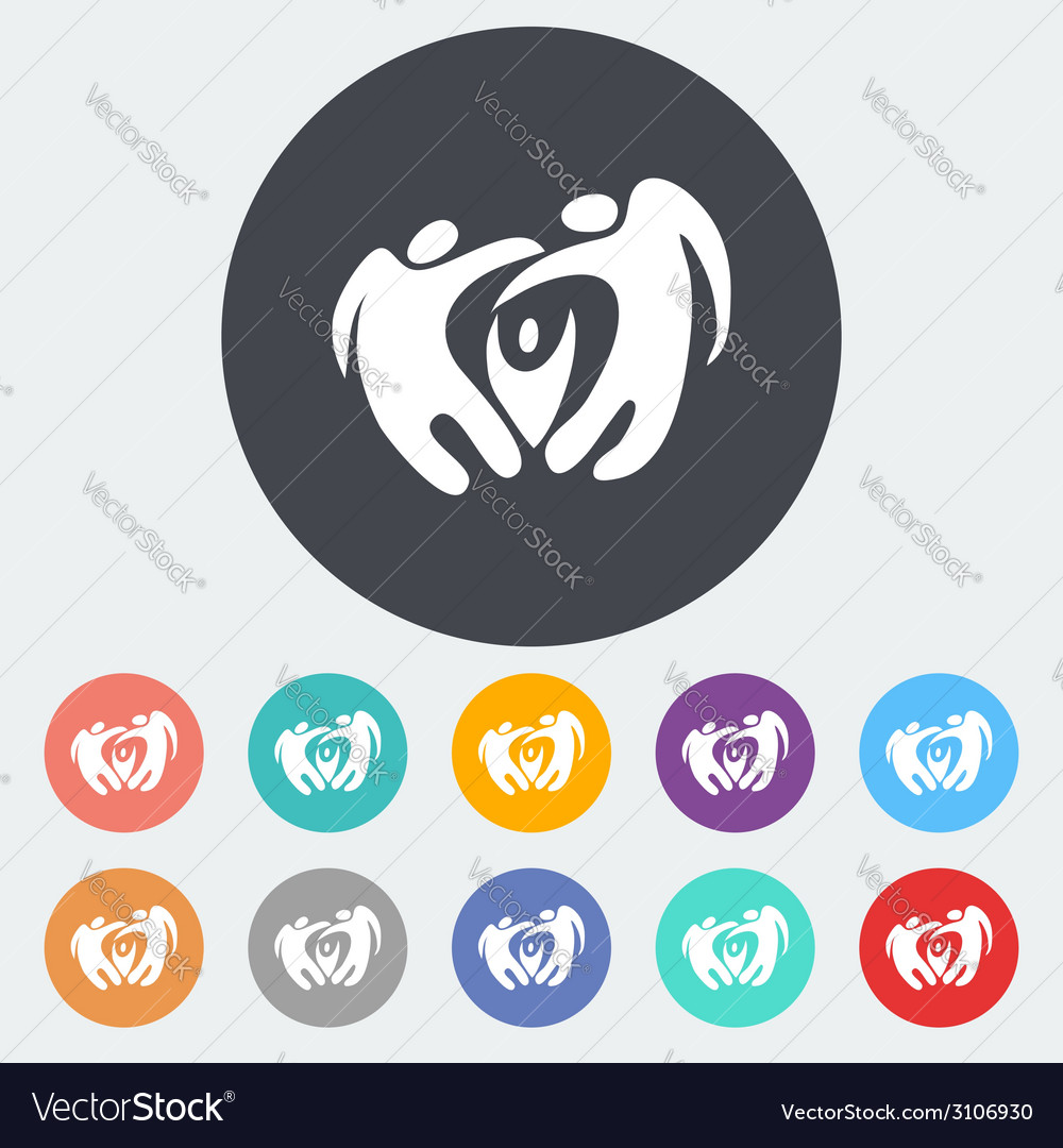 Elegant abstract family flat icon vector | Price: 1 Credit (USD $1)