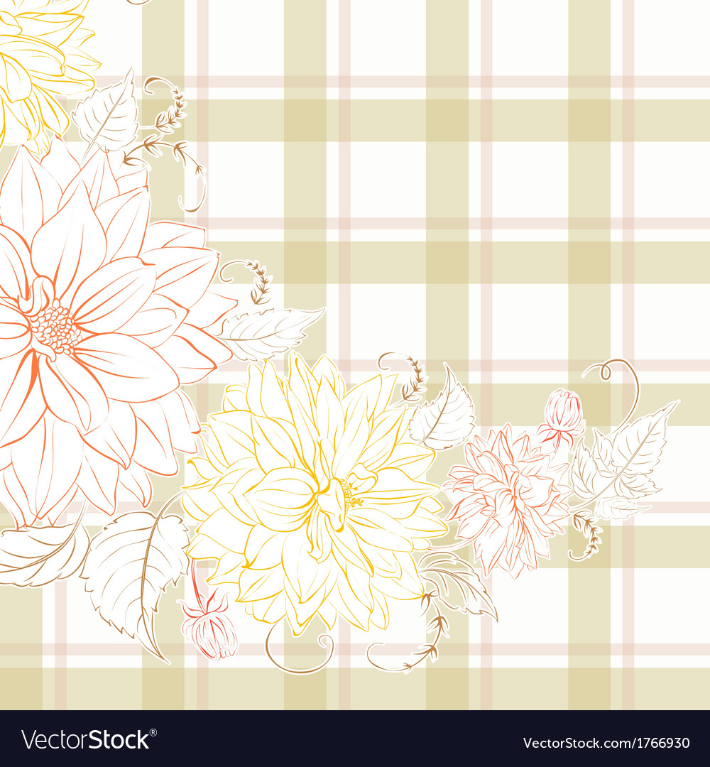Excellent pattern with chrysanthemum vector | Price: 1 Credit (USD $1)