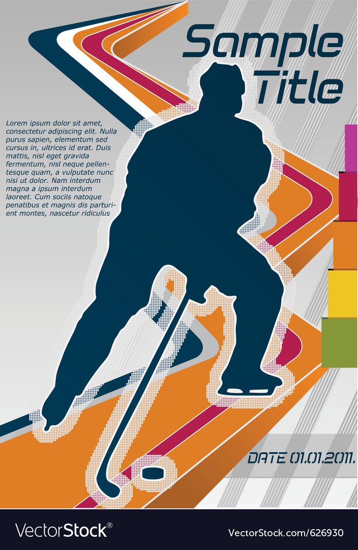 Hockey poster vector | Price: 1 Credit (USD $1)
