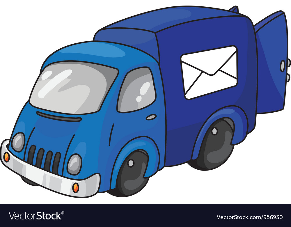 Mail car vector | Price: 3 Credit (USD $3)