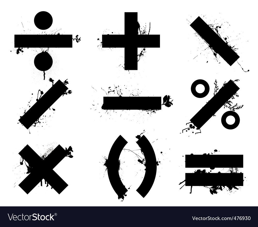 Math symbols vector | Price: 1 Credit (USD $1)