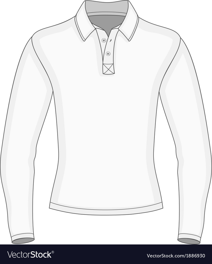 Mens long sleeve polo shirt vector | Price: 1 Credit (USD $1)