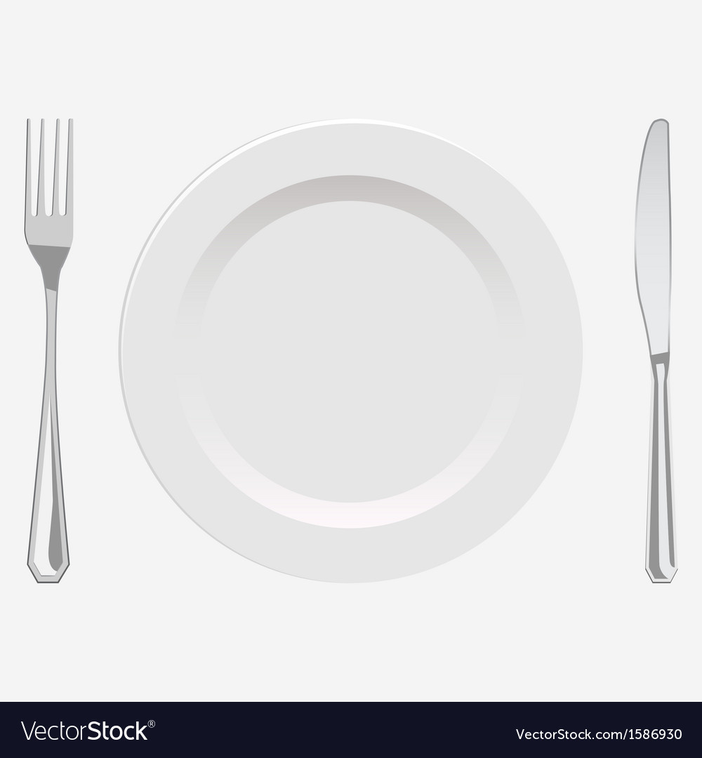 Plate and fork and knife vector | Price: 1 Credit (USD $1)