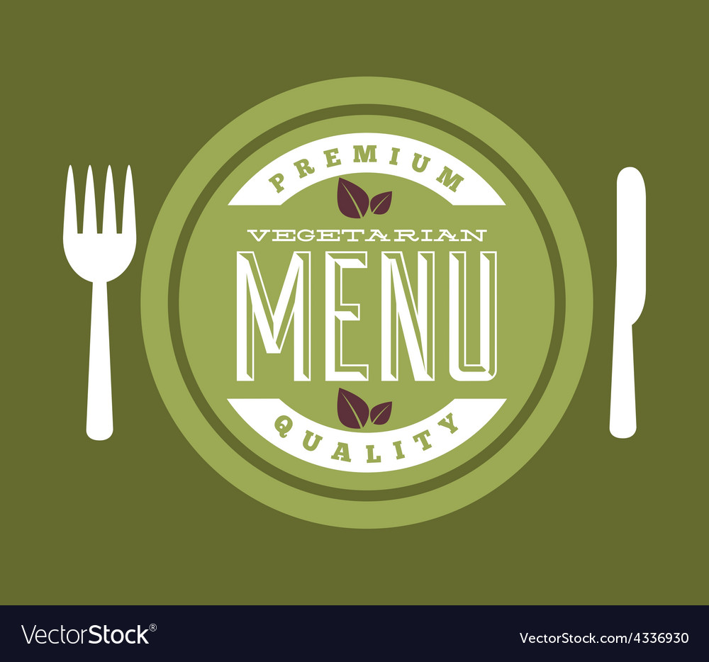 Vegetarian food vector | Price: 1 Credit (USD $1)