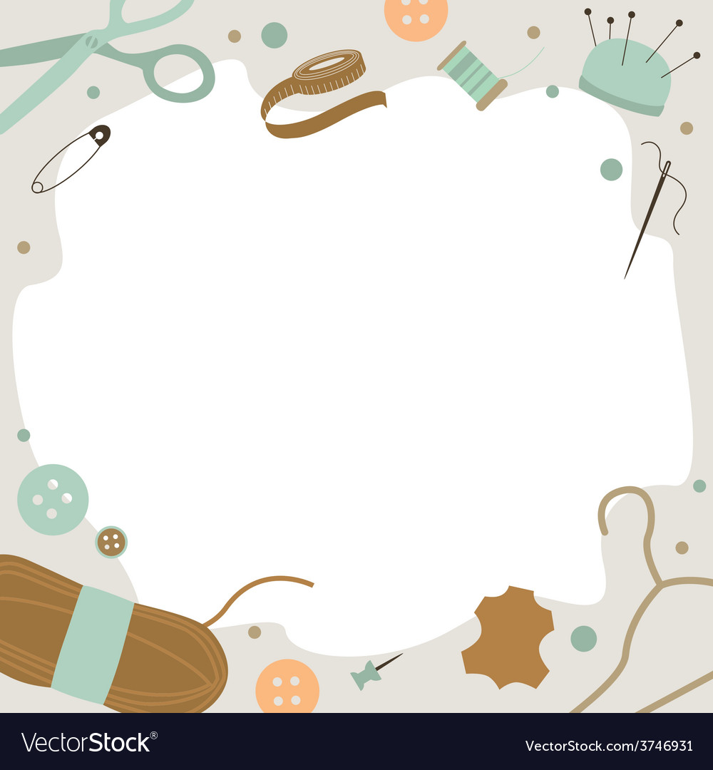 Background with sewing tools vector | Price: 1 Credit (USD $1)
