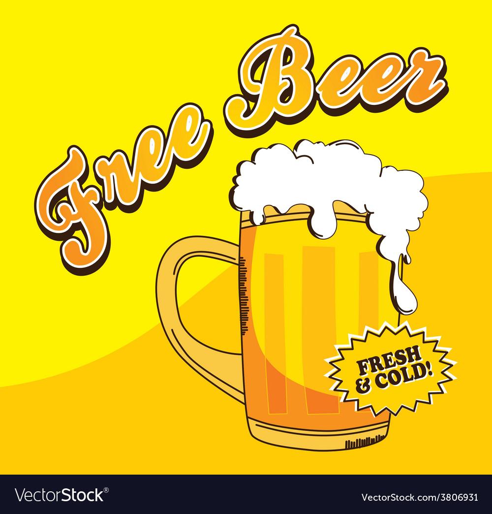 Beer theme vector | Price: 1 Credit (USD $1)