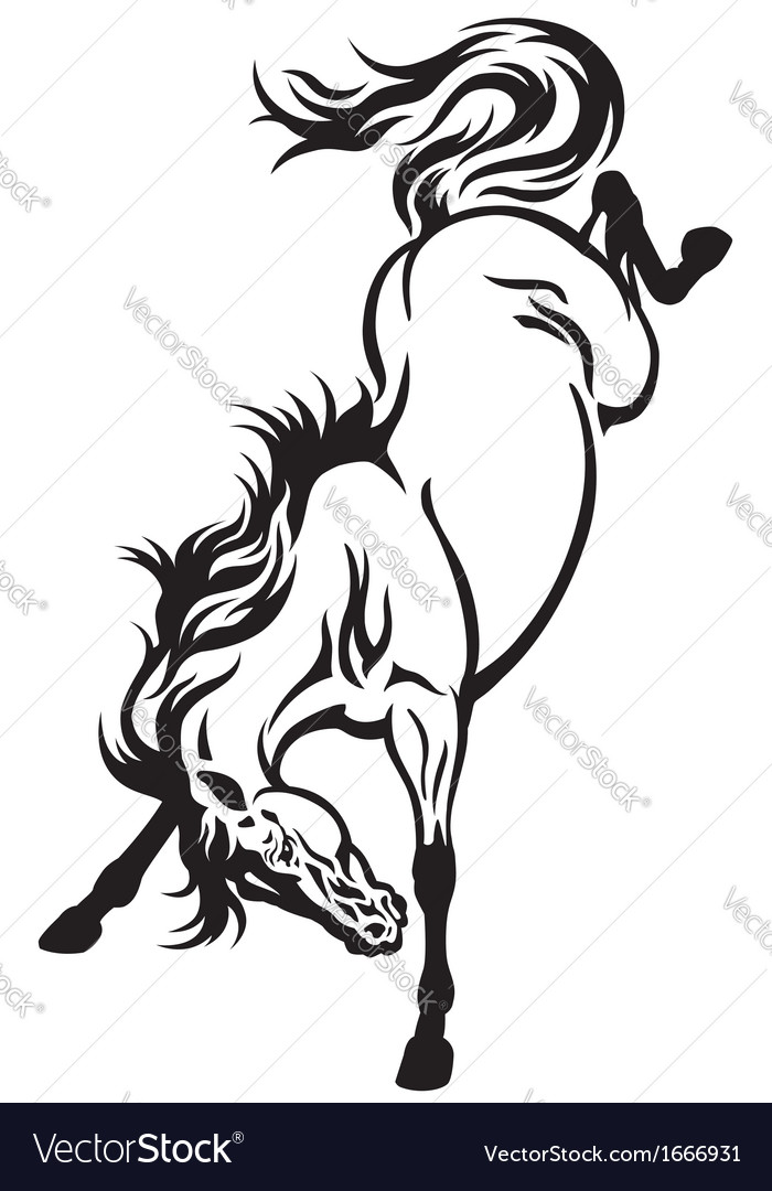 Bucking horse tattoo vector | Price: 1 Credit (USD $1)