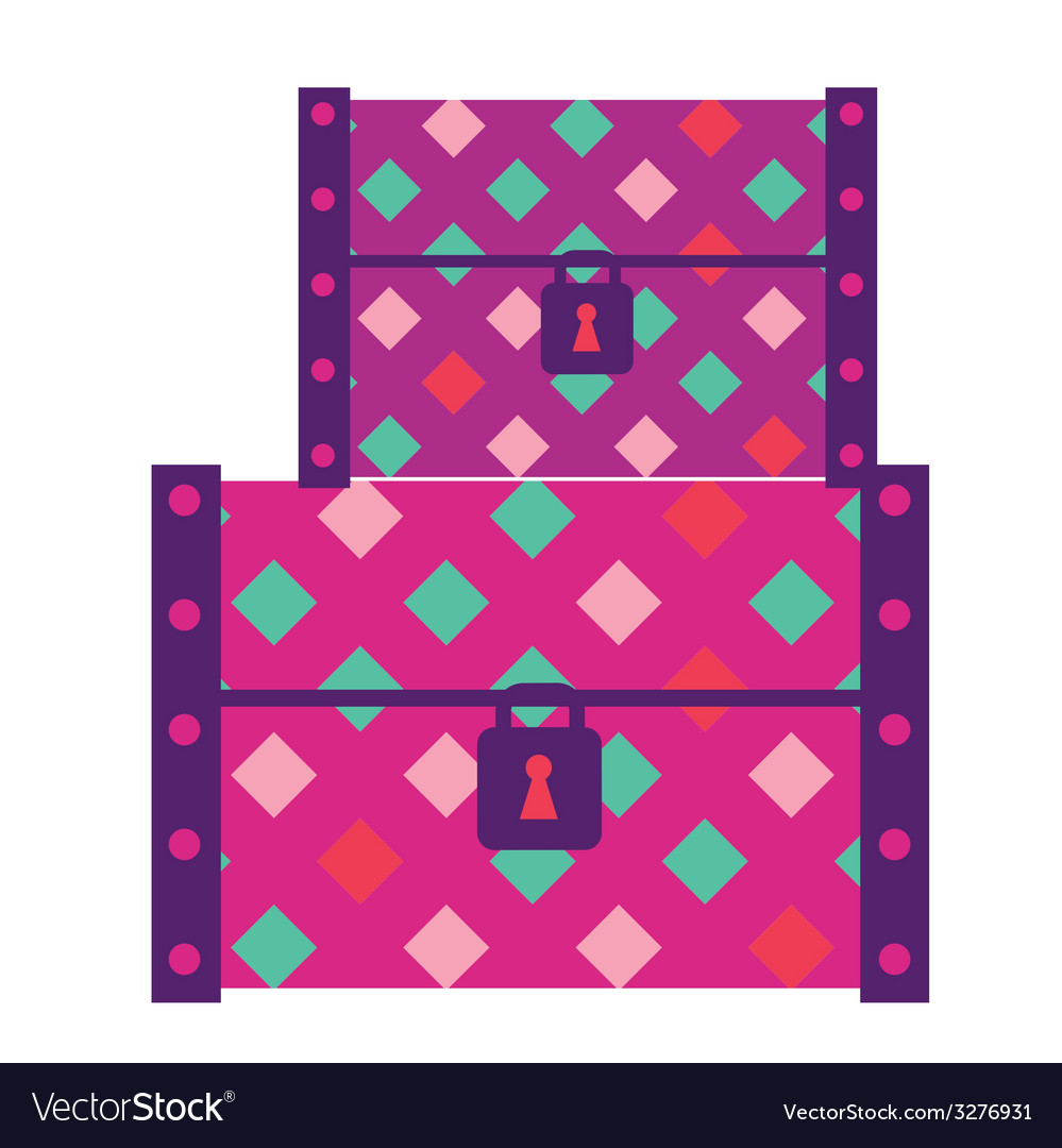 Fashion suitcases vector
