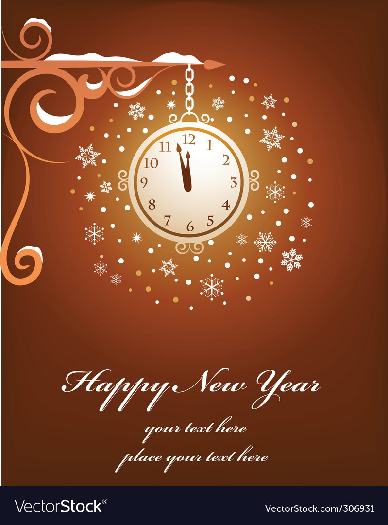 Happy new year card design vector | Price: 1 Credit (USD $1)